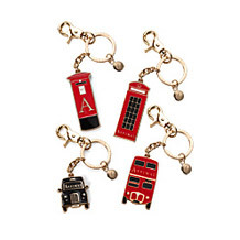 London Key Ring Collection. Key Rings & Charms from Aspinal of London