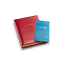 Travel Address Books. Leather Travel Goods from Aspinal of London