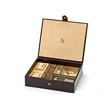 Leather Cufflink & Watch Boxes. Mens Collection from Aspinal of London