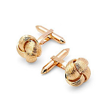 9ct Gold Fine Wire Knot Cufflinks. Sterling Silver, Gold & Enamel Cufflinks from Aspinal of London