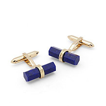 9ct Gold Lapis Lazulite Cufflinks Range. Sterling Silver, Gold & Enamel Cufflinks from Aspinal of London