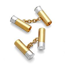 Sterling Silver & Gold Plated Double Cartridge Cufflinks