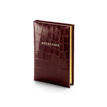 Safari Croc Address Books. Leather Address Books from Aspinal of London