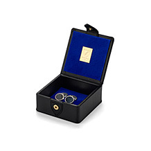 Small Stud Box. Leather Cufflink & Watch Boxes from Aspinal of London