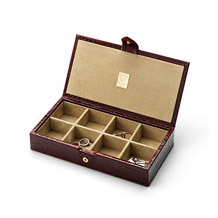 Cufflink Box. Leather Cufflink & Watch Boxes from Aspinal of London