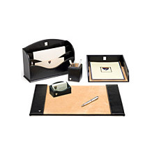 Aspinal Leather Desk Set. Leather Desk Accessories from Aspinal of London