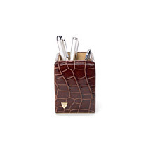 Pen Pot. Leather Desk Accessories from Aspinal of London
