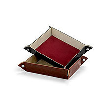Tidy Trays. Leather Desk Accessories from Aspinal of London