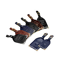 Leather Luggage Tags. Travel Accessories from Aspinal of London