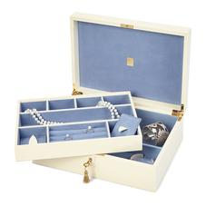 Grand Luxe Jewellery Box in Deep Shine Ivory Croc