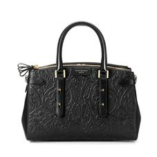 Brook Street Bag in Black Embossed Flower