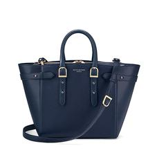 Midi Marylebone Tech Tote in Navy Pebble
