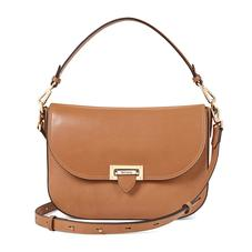 Slouchy Saddle Bag in Smooth Natural Tan