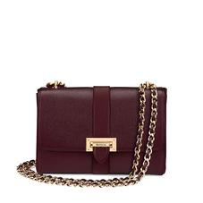 Large Lottie Bag in Burgundy Saffiano