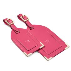 Set of 2 Luggage Tags in Camelia Pink Polish