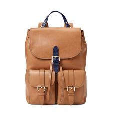 Oxford Backpack in Smooth Natural Tan & Navy
