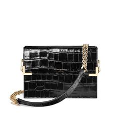 Chelsea Bag in Deep Shine Black Croc