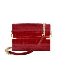 Chelsea Bag in Deep Shine Red Croc