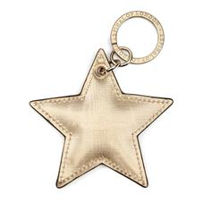 Star Keyring in Gold Moire Print