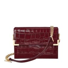 Chelsea Bag in Deep Shine Bordeaux Croc