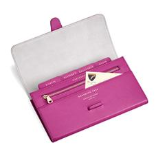 Classic Travel Wallet in Orchid Saffiano