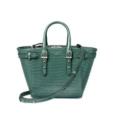 Mini Marylebone Tote in Deep Shine Sage Small Croc