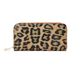 Continental Clutch Zip Wallet in Leopard Print