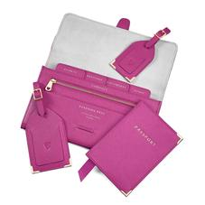 Classic Travel Collection in Orchid Saffiano