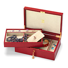 Savoy Jewellery Case. Leather Jewellery Boxes from Aspinal of London