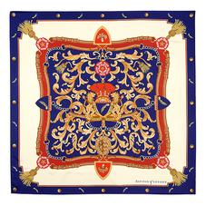 Signature Silk Twill Scarf in Blue (27.5