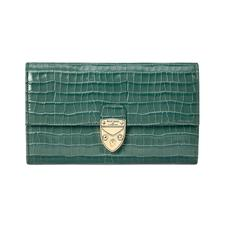 Mayfair Purse in Deep Shine Sage Small Croc