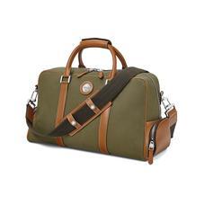 Aerodrome 48 Hour Mission Bag in Khaki Canvas & Smooth Tan