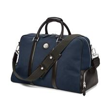 Aerodrome Long Weekender in Navy Canvas & Dark Brown Pebble