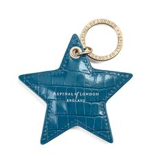Star Keyring in Deep Shine Topaz Small Croc