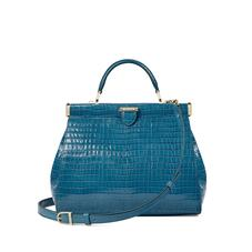 Small Florence Frame Bag in Deep Shine Topaz Small Croc