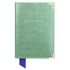 Passport Cover in Peppermint Metallic