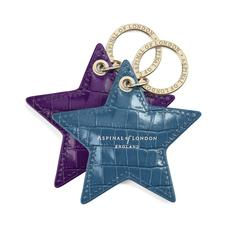 Leather Star Key Rings