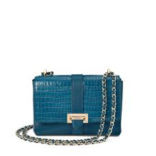 Small Lottie Bag in Deep Shine Topaz Small Croc