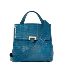Soho Backpack in Deep Shine Topaz Small Croc