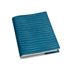 A5 Refillable Leather Journal in Deep Shine Topaz Small Croc
