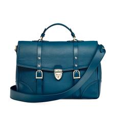 Large City Mollie Satchel in Topaz Pebble