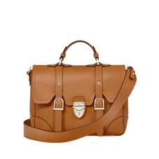 Small Country Mollie Satchel in Smooth Tan