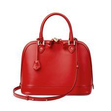 Hepburn Bag in Smooth Scarlet