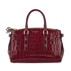 Brook Street Bag in Deep Shine Bordeaux Croc