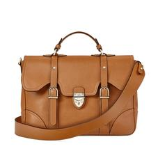 Large Country Mollie Satchel in Smooth Tan