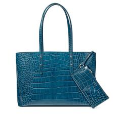 Regent Tote in Topaz Croc (with A-Stitched Side Panels)