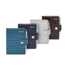 Mini Pocket Leather Diary & Pen