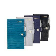 Slim Pocket Leather Diary & Pen