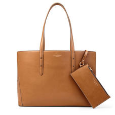 Regent Tote in Smooth Tan (with A-Stitched Side Panels)