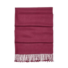 Essential Silk & Cashmere Pashmina in Burgundy